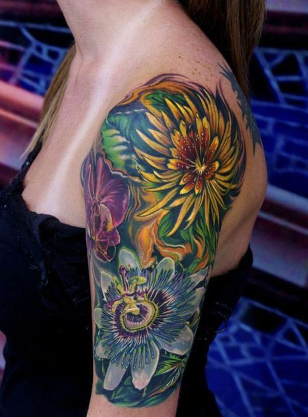 ideas flower tattoo sleeve