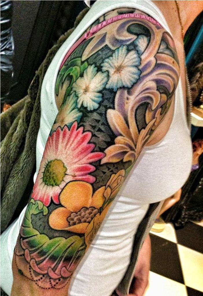 Flower Arm Sleeve : flower, sleeve, Ideas, Flower, Tattoo, Sleeve, Tattoofanblog