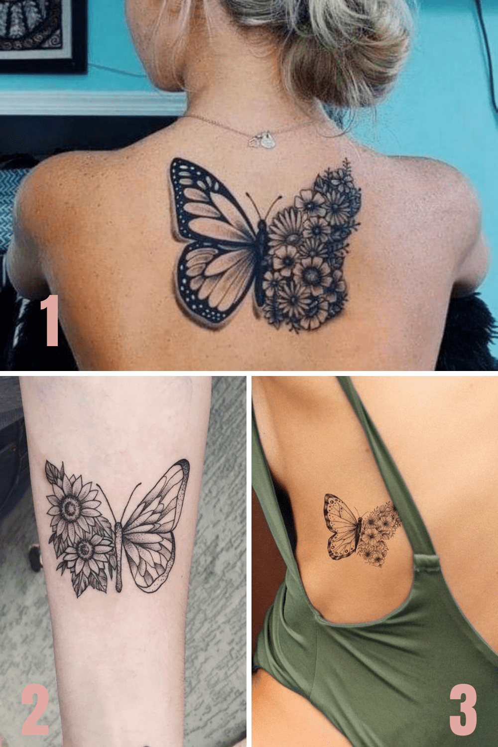 Butterfly And Flower Tattoos : butterfly, flower, tattoos, Beautiful, Butterfly, Flower, Tattoo, Ideas, TattooGlee