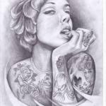 tattoo palencia chica bella realista realismo tatuaje