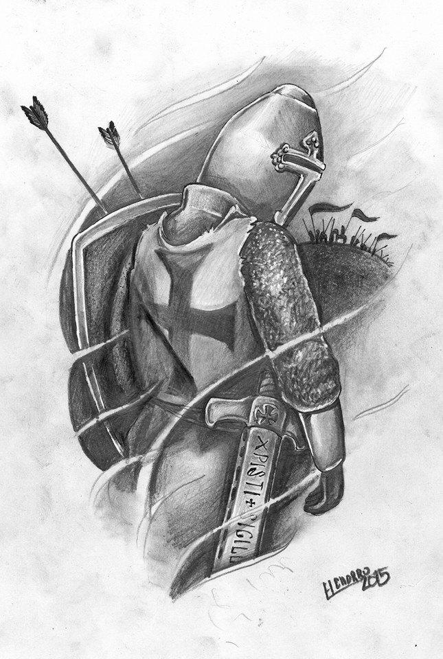 caballero templario tatuaje tattoo tatuadores palencia