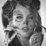 catrina tatuaje palencia tattoo