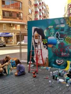 el dimitry palencia san antolin infame arte urbano exposición bares con arte