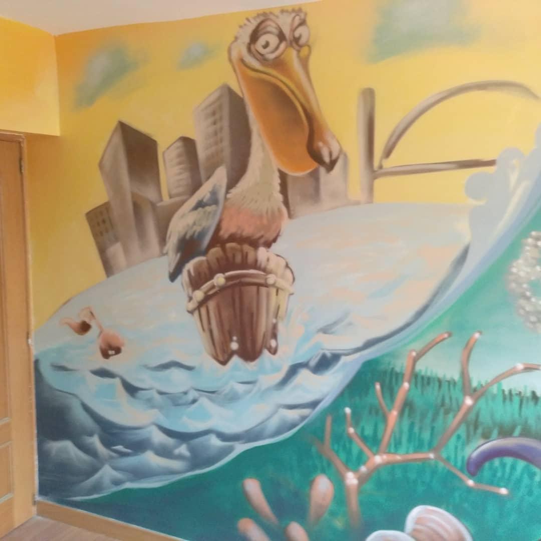 mural graffiti palencia madrid montana cans spray