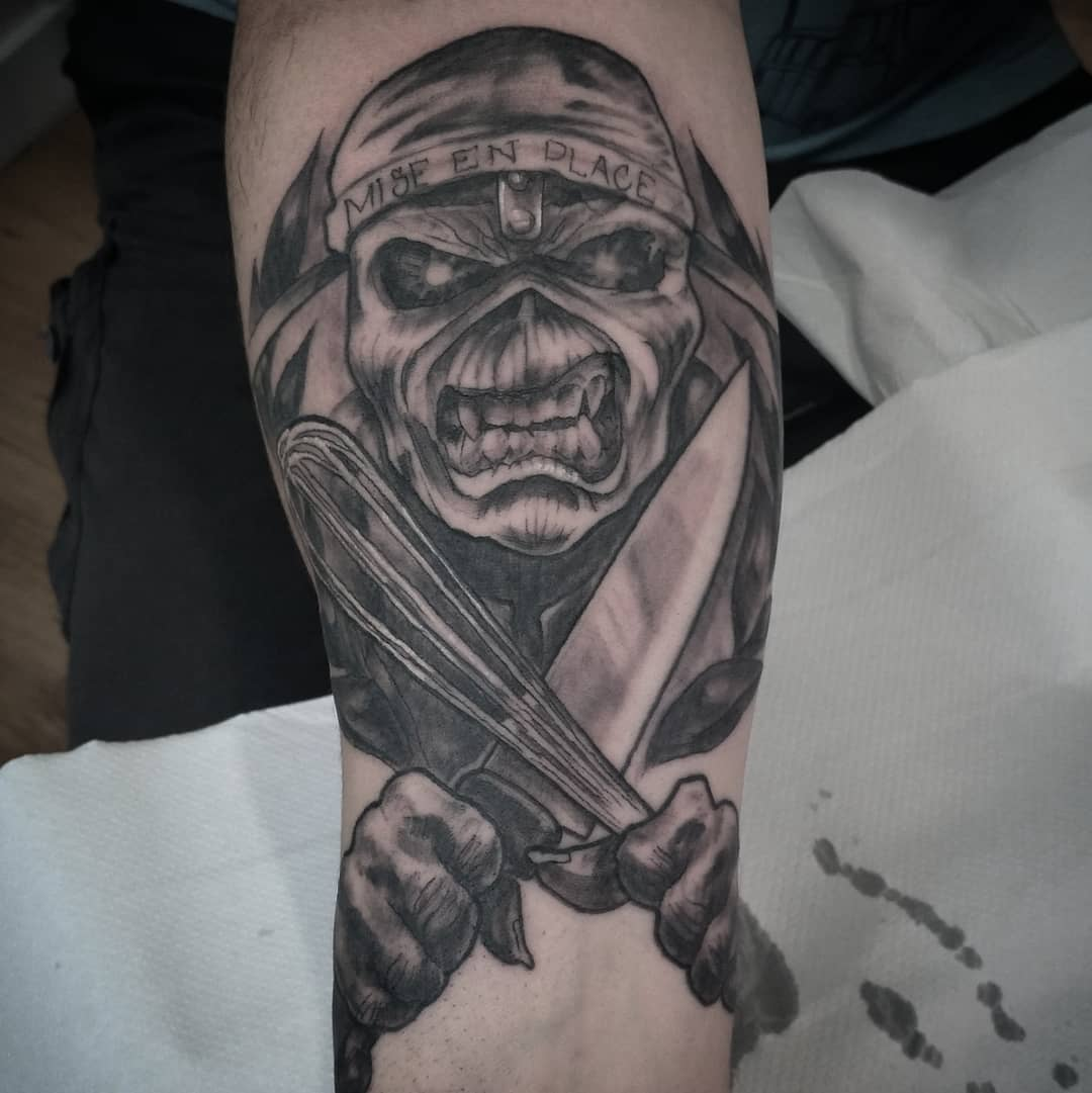 eddy iron maiden tattoo tatuaje
