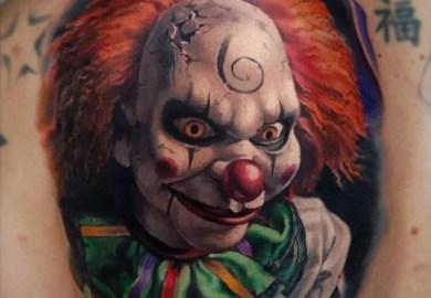 Evil Clown Tattoo Designs