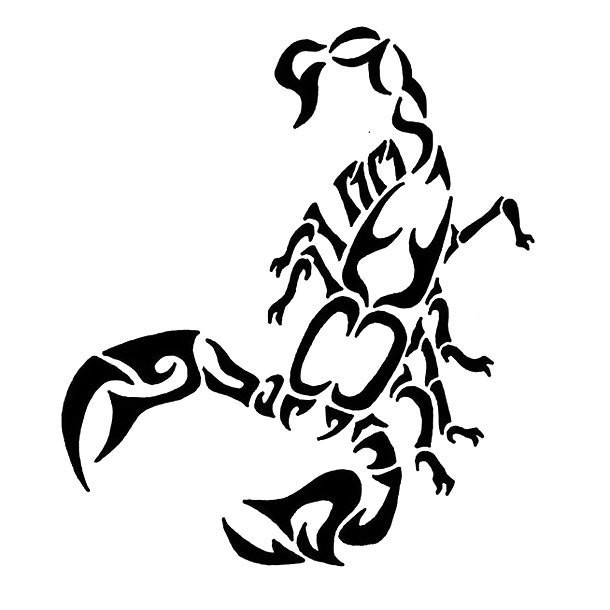Scorpion Tattoo Design Tribal