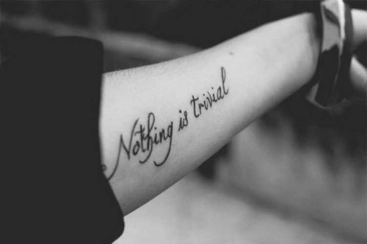 Quote Forearm Tattoos For Girls
