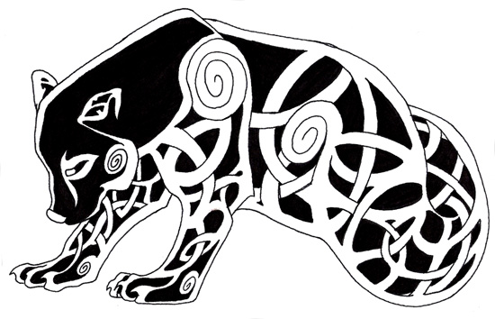 Celtic Bear Tattoo Designs