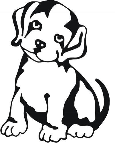 Malvorlage Hundekopf