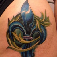 Fleur De Lis Tattoo Color