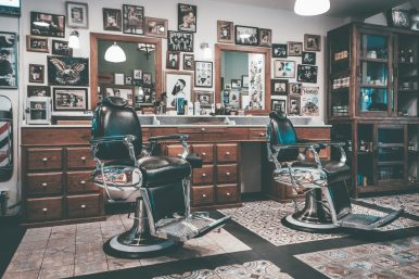 Barber chairs.