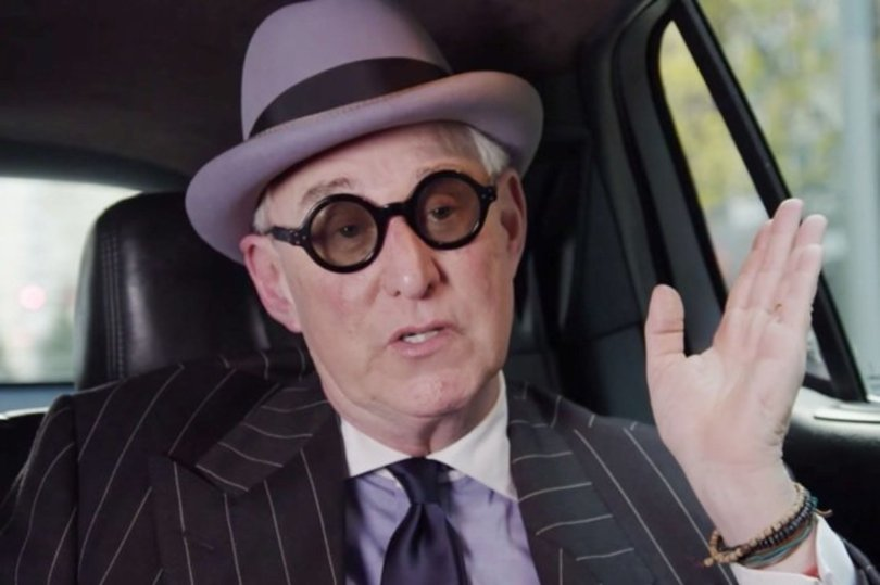 roger stone looking like the riddler