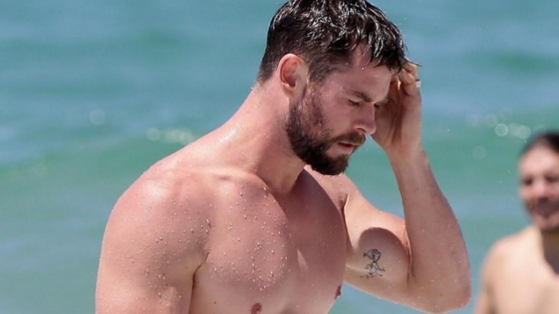 chris hemsworth tattoo avengers