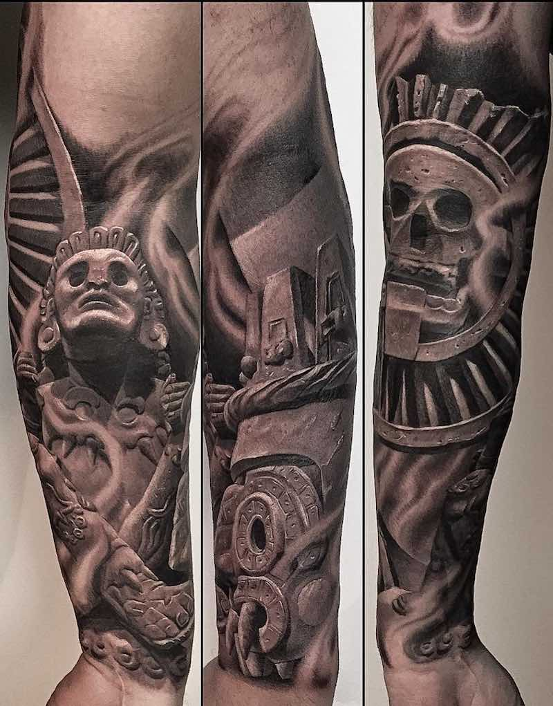 Aztec Pyramids Tattoo : aztec, pyramids, tattoo, Aztec, Pyramid, Tattoo, Gallery, Collection