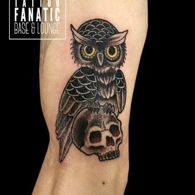 フクロウ owl スカル skull