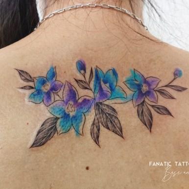 watercolor tattoo 水彩 タトゥー