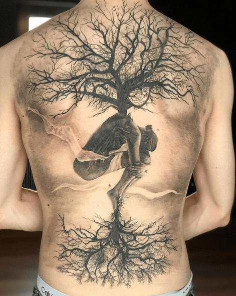 small life of tree tattoo