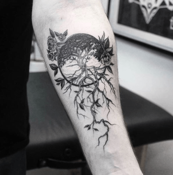 small tree of life tattoo