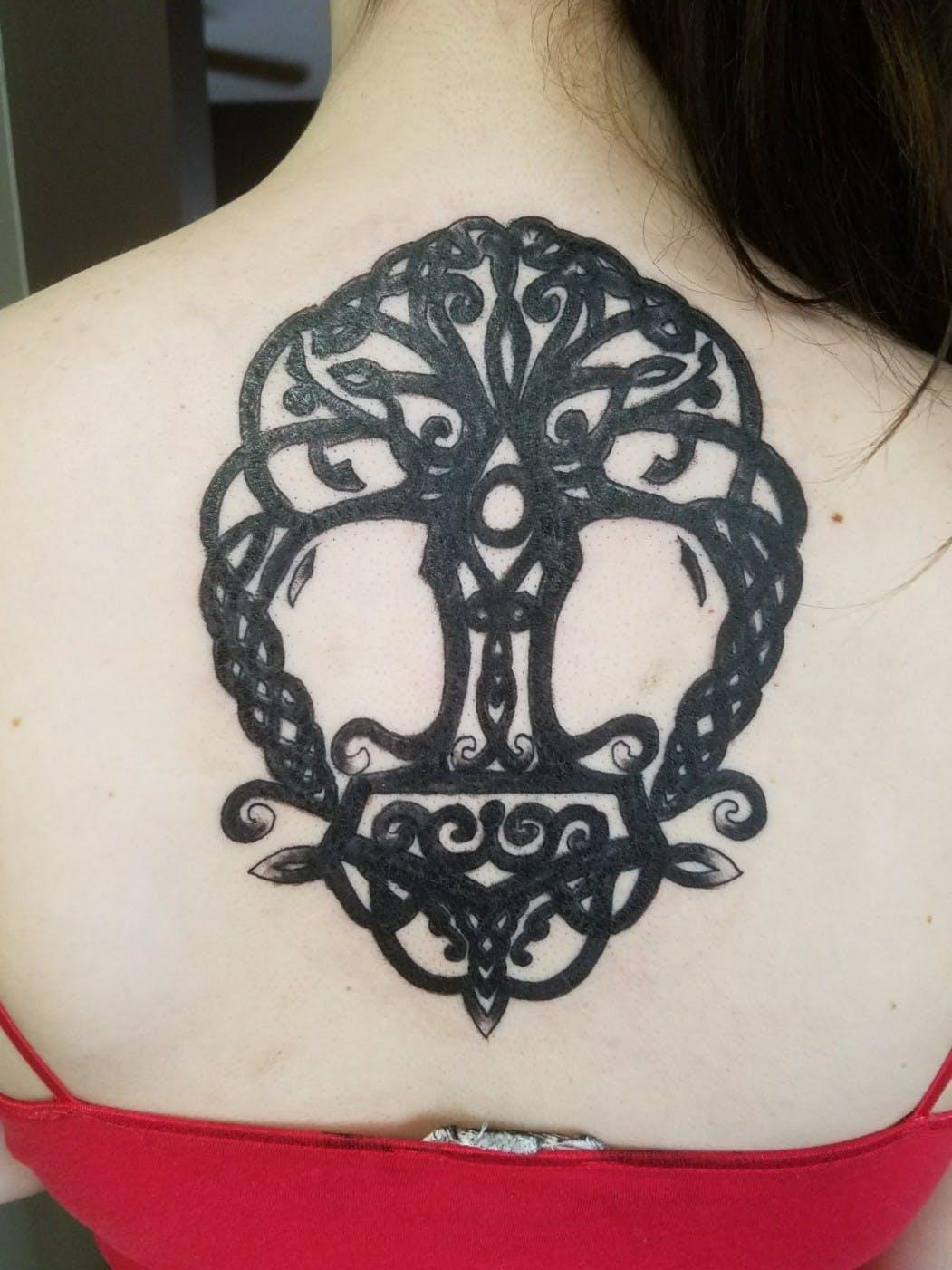 back tree of life tattoo