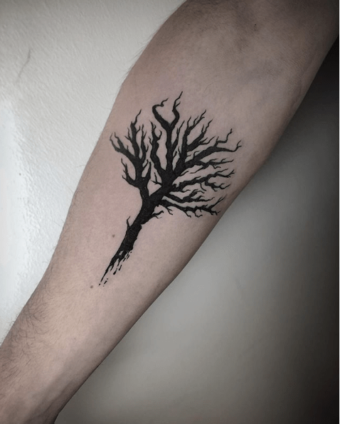 tree of life forearm tattoos