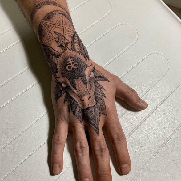 baphomet head tattoo