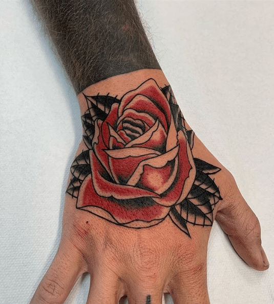 american traditional tattoo rose