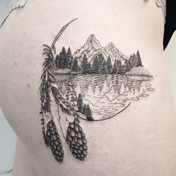 small forest tattoos