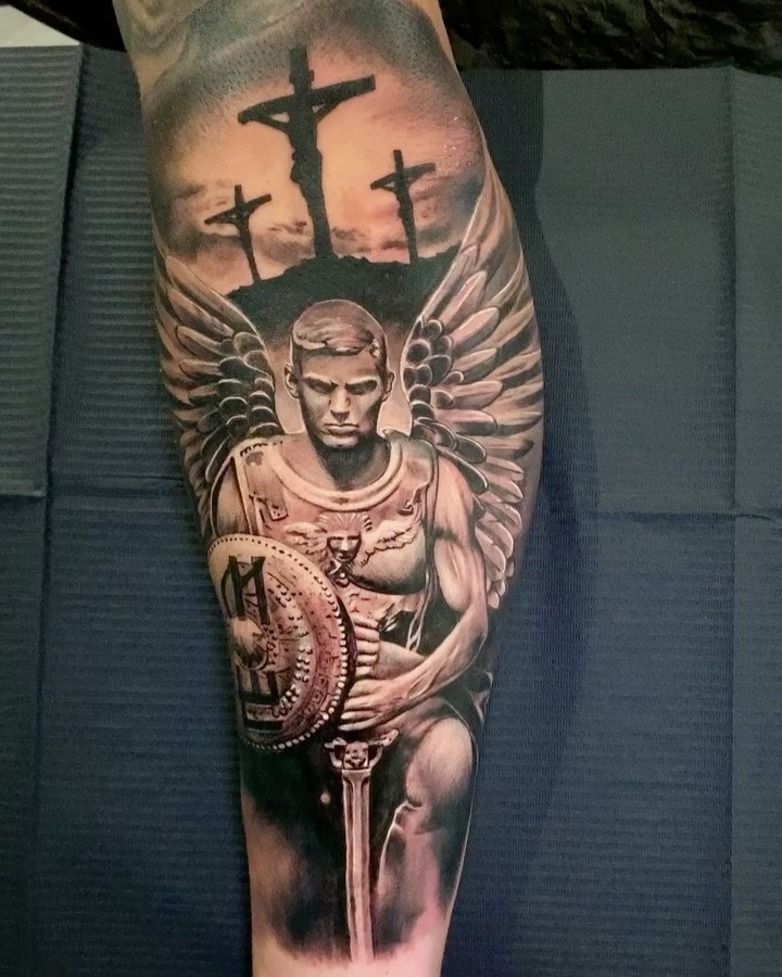 Guardian Angel Heaven Forearm Tattoos : guardian, angel, heaven, forearm, tattoos, Angel, Tattoos