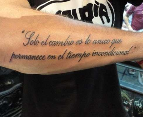 Tatoo avec phrases homme