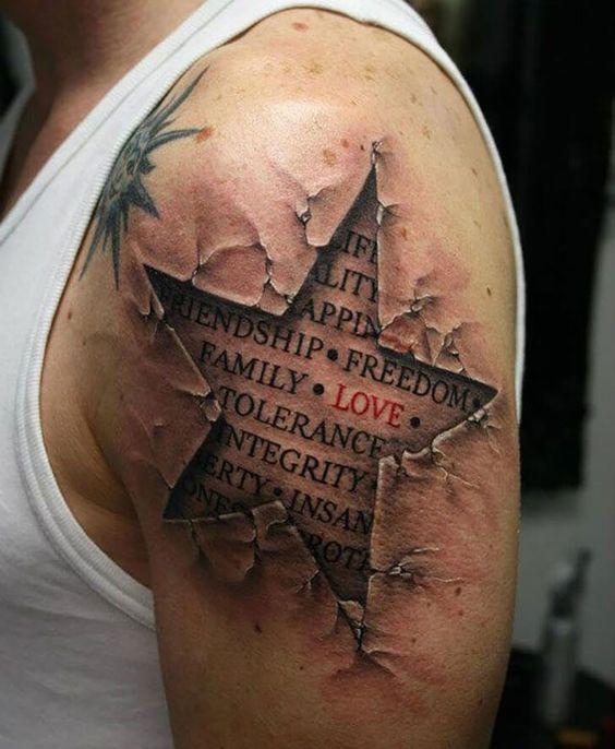 Tatouage magnifique 3D