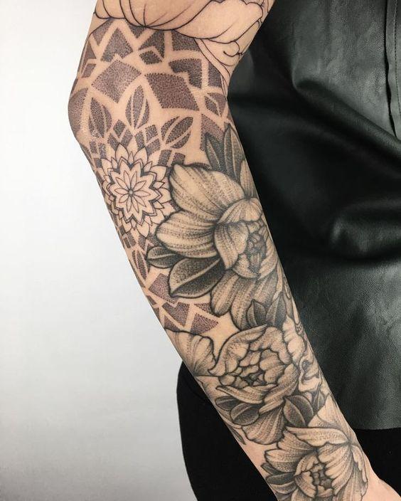 Mandala floral, idée fraîchement préparée