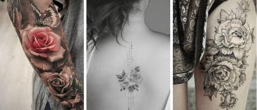 tatouage rose, Motif tatouage : Optez pour le tatouage rose pour un charme intense !