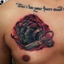 Signification de tatouage de grenade 16