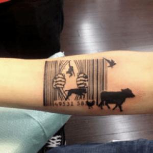 tatouage à la crème végétale