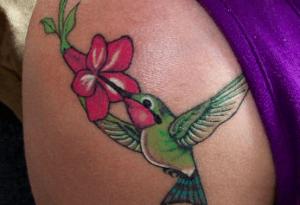 tatouage colibri