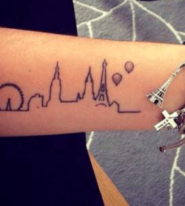 tatouage d'horizon