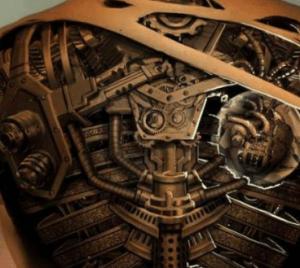 tatouage steampunk