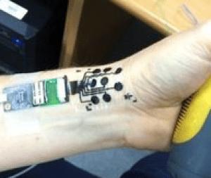 tatouage de circuit électrique
