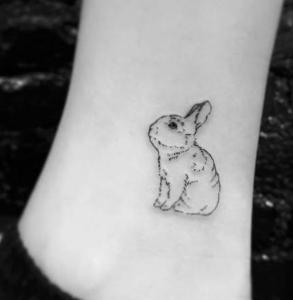 tatouage de lapin