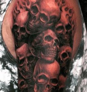 tatouage de crâne