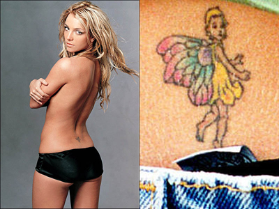 Angel wings tattoo. The Fairy is a mythological figure who has now become a