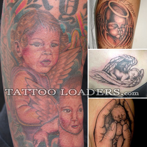 Little baby angel tattoos are probably some of the widely selected ink art