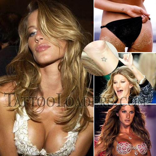Tattoos on Gisele Bundchen. Victoria has some secrets no doubt and one of