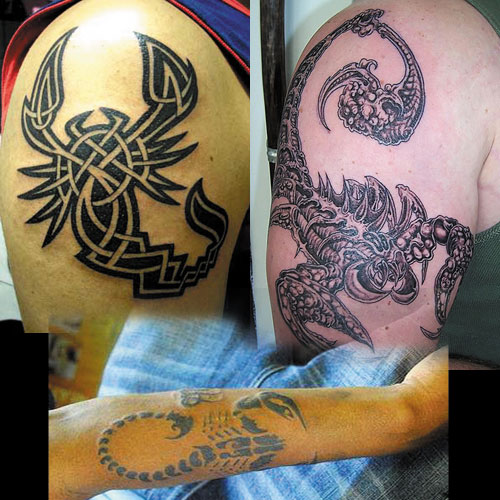 There are some Scorpio tattoo symbols that resemble a tribal ink marking.