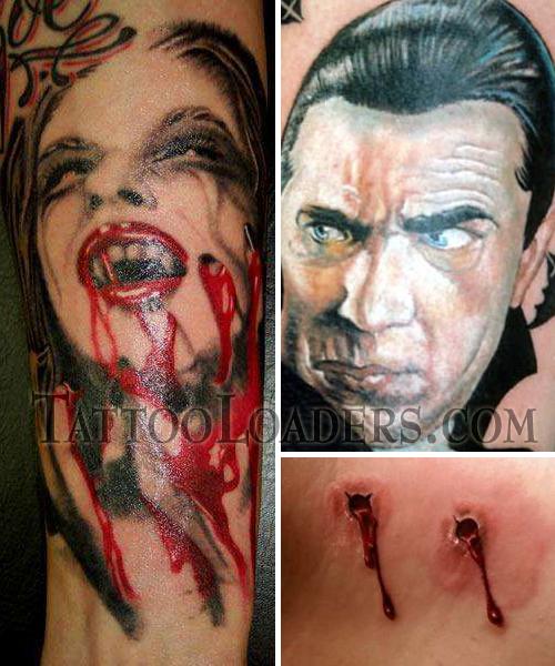 Vampire Tattoos That Rock! Vampire Tattoos