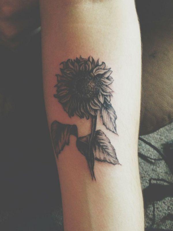 20 Black Sunflower Tattoos Ideas And Designs