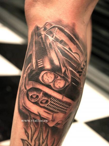 Simple Black Car Tattoo On Arm Tattoomagz Tattoo