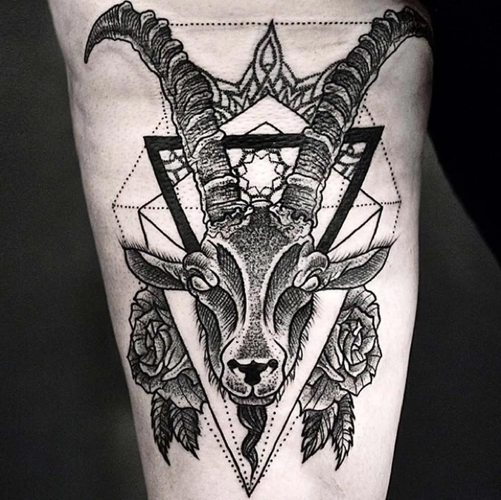 Amazing Goat Leg Tattoo  Tattoomagz