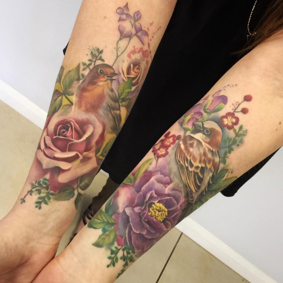 Watercolor Flowers Tattoo Sleeve Kayaflower Co